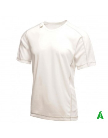 Sporty fit t-shirt, white man, customizable with print or embroidery.
