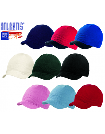 Mini visor beanie for winter, available in many colours on sale for sport, promotions and freetime