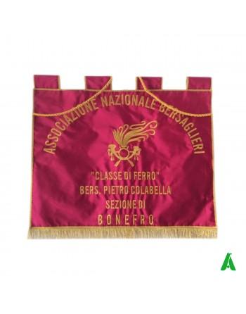 Estandarte bordado Bersaglieri cm 70 x 70.