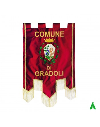 Embroidered Customized Banners for Institutions, Cities, Districts, Departments with city emblem.