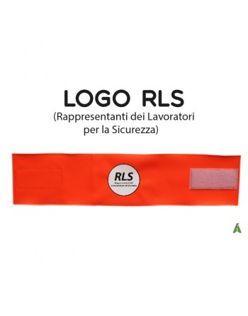 Armband RLS companies, on fluorescent orange fabric adjustable with velcro for each size.
