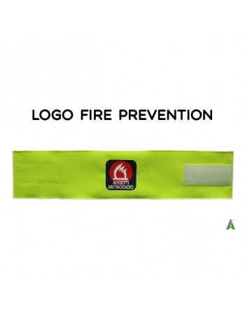 Armband for firefighters, on fluorescent yellow fabric adjustable with velcro for each size.