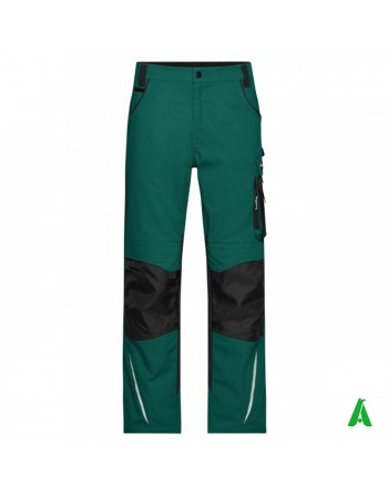 Professional work trousers with side pockets, customized embroidery for companies.