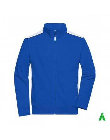 Arbeits-Sweatshirt mit Rundhalsausschnitt und personalisierter Stickerei für Unternehmen, Werbung, Sport und Industrie