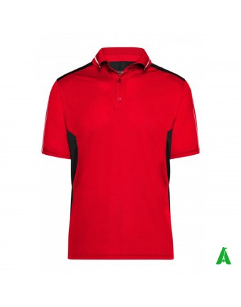 100% polyester work T-shirt, personalized with embroidery, patch or print.