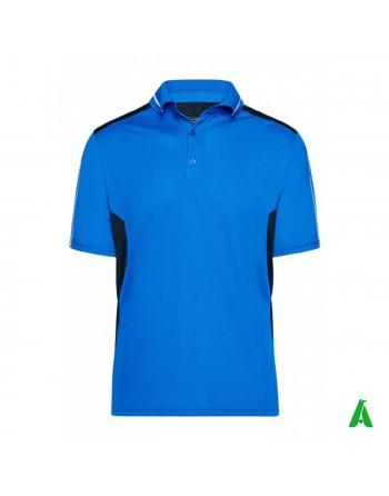 T-shirt polo da lavoro 100% poliestere, personalizzata con ricamo, patch o stampa.