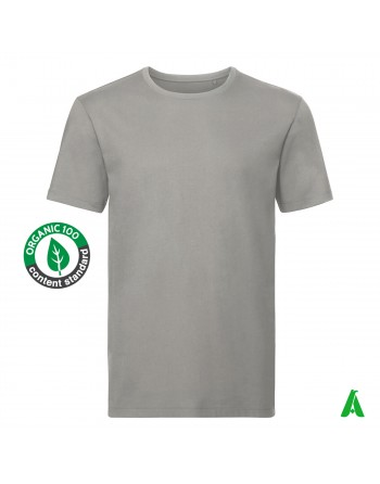 organic cotton men's t-shirt, customizable with print or embroidery