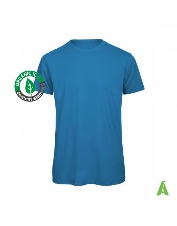 T-shirt homme 100% coton bio personnalisable avec impression ou broderie tourisme bien-être sport été