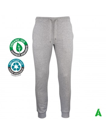 Organic cotton jogging pants customizable with embroidery