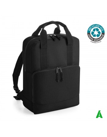 100% eco-sustainable recycled thermal backpack, customizable with company embroidery