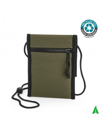 100% eco-sustainable recycled shoulder bag, customizable with company embroidery