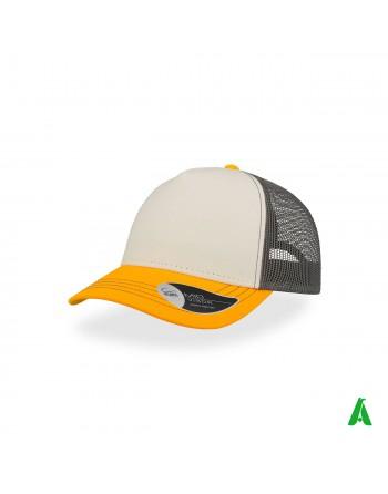 Rapper Canvas Kappe aus 100% Baumwolle, anpassbar mit Firmenstickerei in bis zu 9 Farben