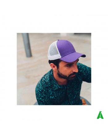 Rapper Cotton 100% cotton cap customizable with company embroidery up to 9 colors