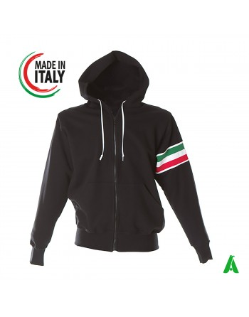 White sweatshirt made in Italy customizable with your logo / writing with printing or embroidery up to 9 colors