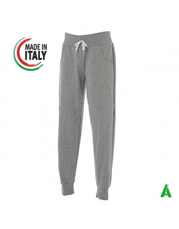 Made in Italy grey trousers customizable with your logo / writing with printing or embroidery up to 9 colors