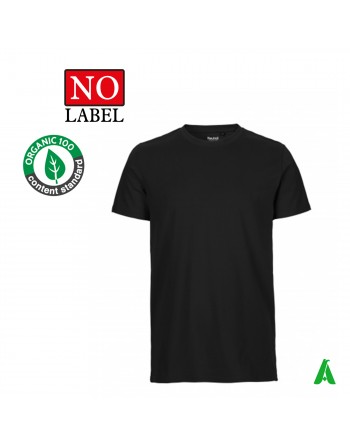 NO Label T-shirt 100% organic cotton customizable with embroidery or printing of my logo