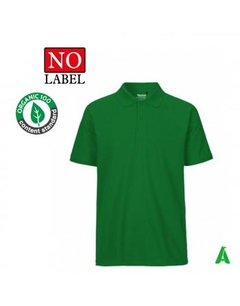 Polo NO Label 100% coton bio personnalisable avec broderie ou impression de mon logo