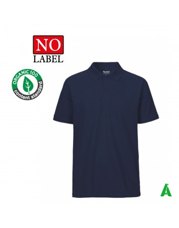 NO Label polo shirt 100% organic cotton customizable with embroidery or printing of my logo