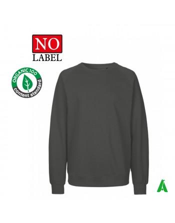 Sweat NO Label 100% coton bio personnalisable avec broderie ou impression de mon logo