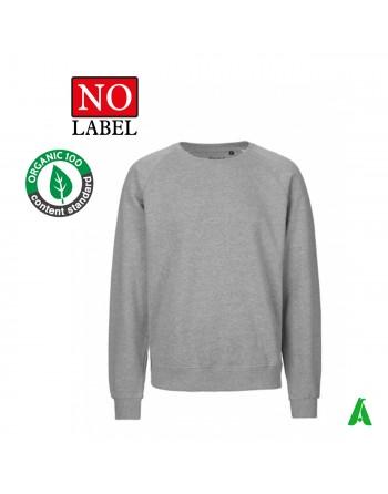 NO Label Sweatshirt aus 100 % Bio-Baumwolle personalisierbar mit Stickerei oder Druck meines Logos