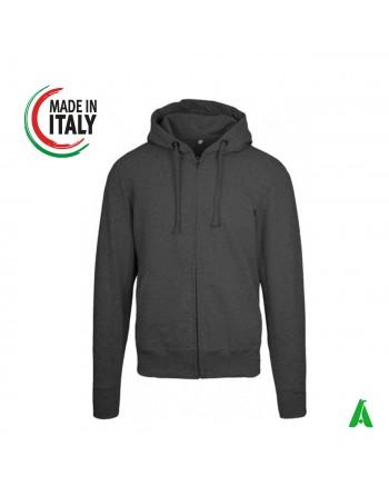 Made in Italy Kapuzensweatshirt personalisierbar mit Ihrem Logo / Schriftzug mit Druck oder Stickerei in bis zu 9 Farben