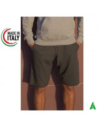 Bermuda made in Italy personnalisable avec votre logo / écriture avec impression ou broderie jusqu'à 9 couleurs