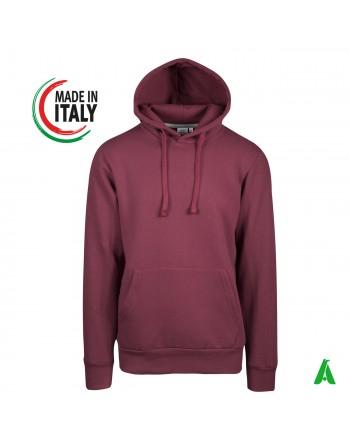 Sweatshirt hergestellt in Italien Stickerei Firmenlogo Kleidung Italien Kapuze benutzerdefinierte Stickereifarben