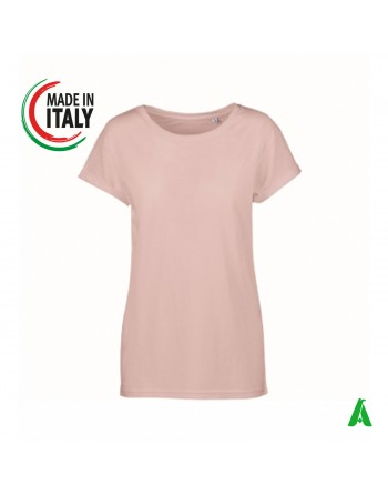 Women's t-shirt made in Italy with round neckline customizable with the embroidery of your logo IT656T