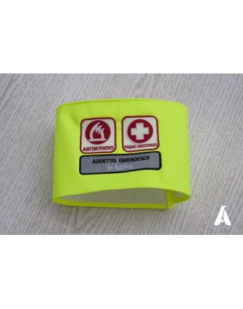 Brassard en tissus Fluorescent personnalisé avec broderie du personnel d'urgence
