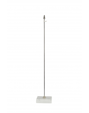 Basetta in marmo per appendere gagliardetti con asticella alta cm 40 e gancetto in plastica per appenderli.