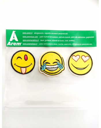 KIT AUFNÄHER EMOTIKON SMILEY THERMOKLEBER