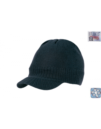 Mini visor beanie colour black for winter, on sale for sport, promotions and free time.