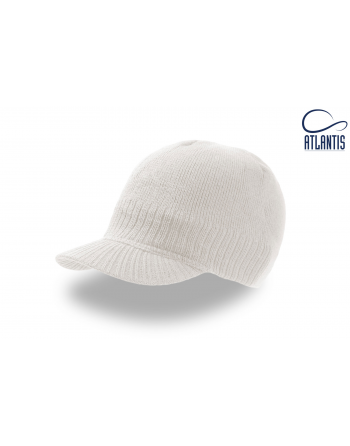 Mini visor beanie colour natural for winter, on sale for sport, promotions and free time.