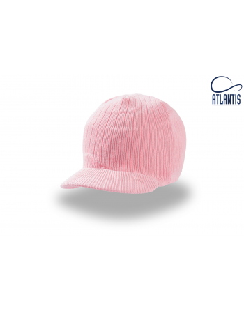 Mini visor beanie colour pink for winter, on sale for sport, promotions and free time.