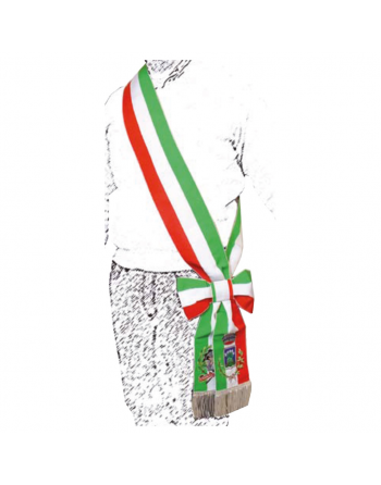Adjustable Mayor's tricolor sash