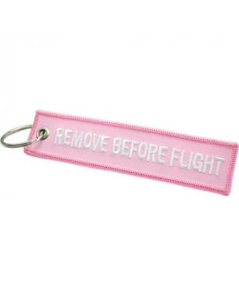 Schlüsselanhänger Remove Before Flight pink Farbe