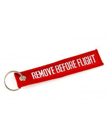 Portachiavi Remove Before Flight colore rosso