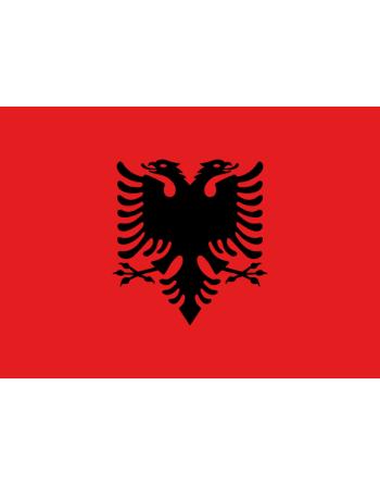Patch Bandiera Albania termoadesiva e da cucire su tessile, cappelli, abbigliamento.