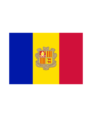 Iron-on embroidered flag Andorra