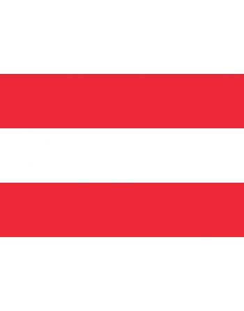 Nationalflagge Österreich mit Thermokleber