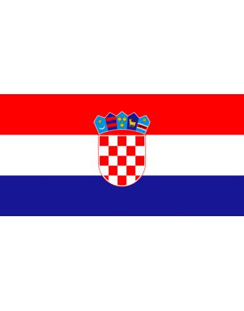 Patch Bandiera Croazia termoadesive e da cucire su abbigliamento, cappelli, zaini e tessile.