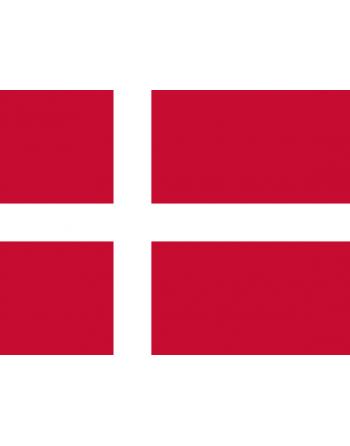Patch Bandiera Danimarca termoadesive e da cucire su abbigliamento, cappelli, zaini e tessile.