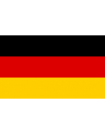 Germany Iron-on and sew-on embroidered Flag for clothing and textile.