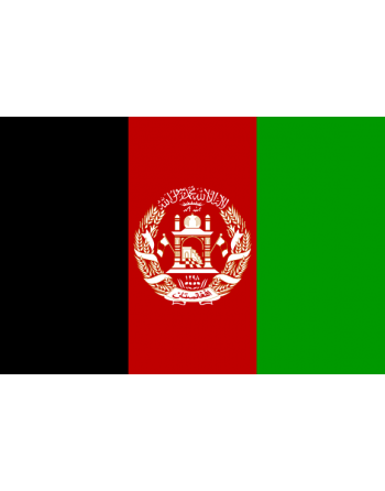 Iron-on embroidered Flag Afghanistan