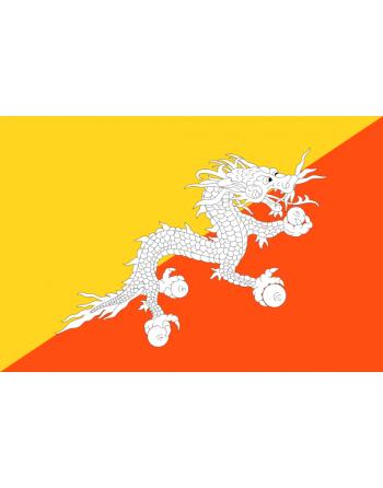 Aufnäher Nationalflagge Bhutan mit Thermokleber