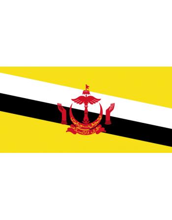 Aufnäher Nationalflagge Brunei mit Thermokleber