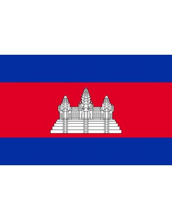 Aufnäher Nationalflagge Kambodscha mit Thermokleber