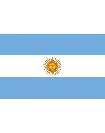 Aufnäher Nationalflagge Argentinien mit Thermokleber