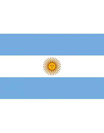 Iron-on embroidered Flag Argentina