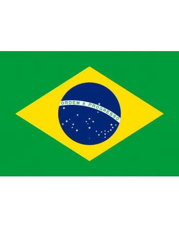 Iron-on embroidered Flag Brazil